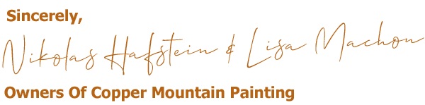 Nikolas Hafstein and Lisa Machon - Owners Of Copper Mountain Painting